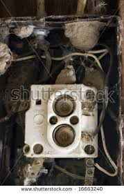 home fuse box stock images royalty images vectors old fuse box in an abandoned barn contacts and wires covered by spider webs