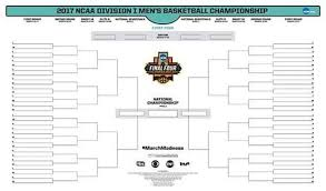 Bracket For Ncaa Basketball Tournament March Madness Printable Ncaa Tournament Bracket Just For Fun
