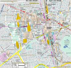 tokyo map shinjuku district metro station map of main interesting