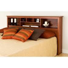 details about king size headboard wood bed frame shelves cherry bedroom furniture bedding beds