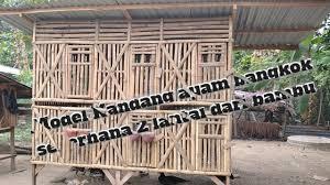 Kandang ayam petelur berdasarkan type kandang terbuka. Kandang Ayam Bangkok Sederhana 2 Lantai Dari Bambu Youtube