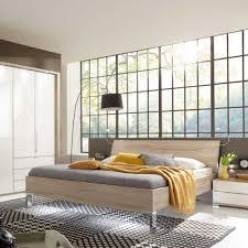 Schlafzimmer Bett Kentro In Eiche Sägerau Modern Pharao24de