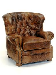 enchanting rustic leather chair at lofty design ideas