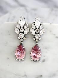 blush chandelier earrings blush pink long earrings bridal blush dangle drop earrings antique pink chandelier earrings vintage earrings