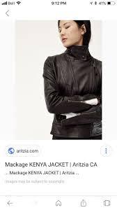 new arrivals mackage leather jacket womens tops outerwear calgary kijiji a72bb f010e