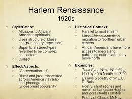 Harlem Renaissance Essay Ideas Mistyhamel