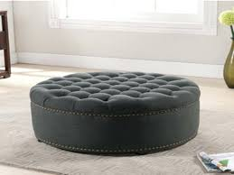 top large tufted ottoman round leather ottomans coffee tables table square storage