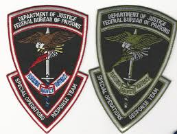 mrod emblems federal bureau of prisons swat sort set of 2 color subdued