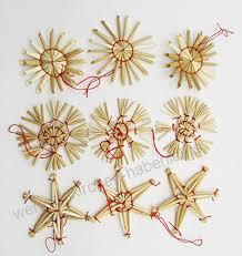66 Weihnachtsanhänger Stroh Christbaumschmuck Strohsterne