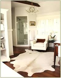 fake cowhide rug faux white home rugs ideas regarding idea 4 real how to clean dog