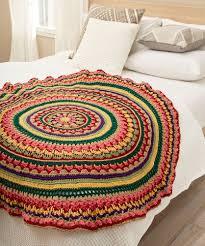 Free Crochet Mandala Pattern Inspiration Circular Fall Mandala Throw Free Crochet Pattern ⋆ Crochet Kingdom