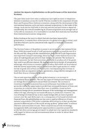 essay on effects of globalisation on year hsc  essay on effects of globalisation on