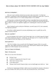 How To Get Noc For Any Vehicle By Davidgupta Issuu