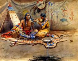 indian beauty parlor 1899 charles marion rus american indians painting