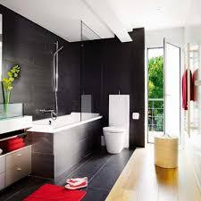 Bathroom Deluxe Bathroom Decorating With Black Wall Tiles Ideas