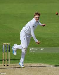 Joe Root of England bowling during Day ...