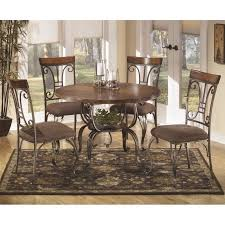 Ashley Plentywood 5 Piece Round Dining Table Set in Brown
