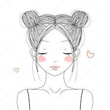 ダブルパンでかわいい女の子 ストックベクター Midori 110329192