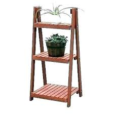 3 tier outdoor wooden plant stand iron metal patio stands three p