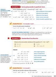 e xample 4 factor polynomials in quadratic form identify quadratic form the expression 16x 4 2