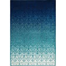 dark blue and turquoise area rug for modern living room floor decor