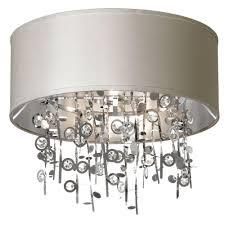 dainolite picabo light polished chrome crystal semi flush mount