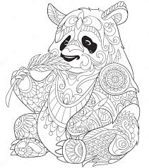 Small Picture panda eating bamboo zentangle coloring page Art Coloring Pages