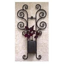 wrought iron planter rustic flower pot