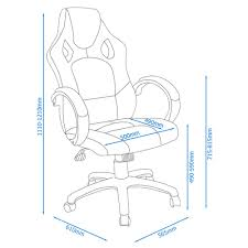 daytona executive office chair dimensions