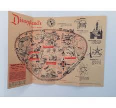Vintage Disneyland Trifold Park Map And Park Flyer
