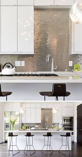 kitchen backsplash choices metallic subway tile faux stainless steel metal look tiles pictures brushed backslash from aluminum for mosaic bathroom wall