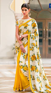 Floral Print Blouse Designs For Sarees Floral Printed Saree Blouse Designs Rldm
