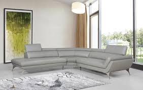 divani casa graphite modern grey leather sectional sofa color grey finish grey com