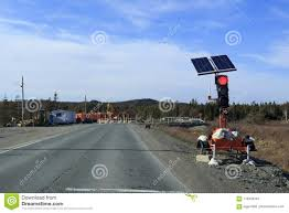 Road Construction Lights Road Construction Traffic Lights Stock Image Image Of