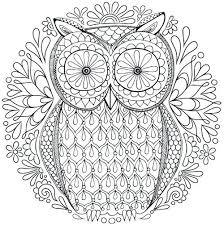 Mandala Coloring Pictures Free Owl Nature Mandala Coloring Page
