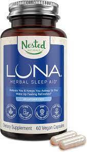 Amazon.com: Luna Melatonin-Free Sleep Aid Supplement | Natural Sleeping Pill  for Adults | Herbal Nighttime Capsule to Help You Fall Asleep | Valerian  Root with Chamomile, Lemon Balm