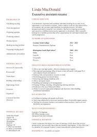 ... no work experience executive assistant resume