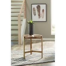 franston light brown round end table jpg