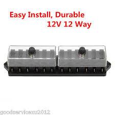 universal 12 way car circuit standard auto blade fuse box block 12v standard 12 way autos vehicle blade block fuse box holder circuit universal