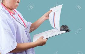 Patient Chart Clipboard Doctor Checking On Clipboard For Patient Chart Healthyconcept