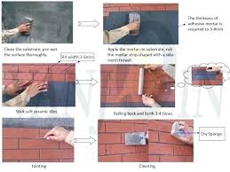 outdoor wall tile adhesive ideas mortar bed exterior ceramic