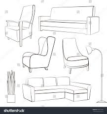 Image Portfolio Furniture Sketchvector Illustrationset Of Hand Drawn Chairssofaslamp Shutterstock Furniture Sketch Vector Illustration Hand Drawn Chairssofaslampplant