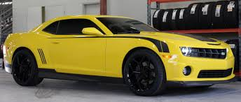 20 inch Staggered MRR 228 Replica Gloss Black on 2010 Chevy Camaro ...