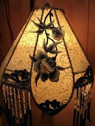 antique table lamp shades best lamp shades images on chandeliers lampshades art alabaster carved birds antique table lamp boudoir beaded one of a antique