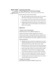 Resume Format For Customer Service Printable Customer Service Resume ...