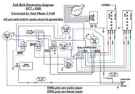 vintage bc rich wiring diagrams neal moser guitars fine custom full bich circuit