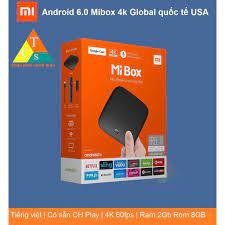 Android Tivi Box Xiaomi Mibox 4K Bản Quốc Tế Tiếng Việt tìm kiếm giọng nói