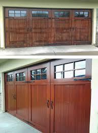 wood garage doorsWood Garage Door Before and After  Painterati