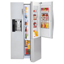 lg refrigerator sears. lg lsxs26366s 26.1 cu.ft. ultra large capacity side-by-side refrigerator w/door-in-door® lg sears