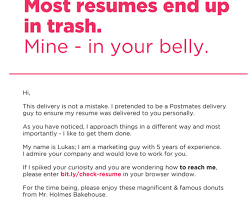 breakupus inspiring resumes resume cv fascinating military to breakupus fair this guy turned his resume into a box of donuts so employers would